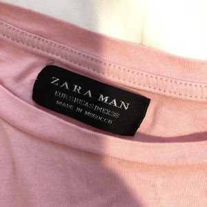 Zara Tops - T-shirt / pink / Zara